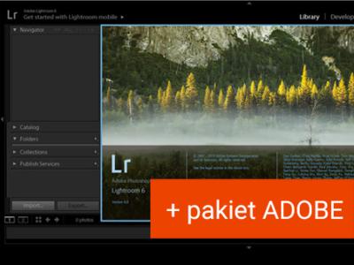 Kurs Lightrooma + pakiet Adobe do 12.2021